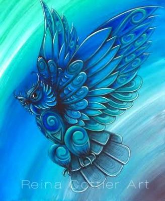 Owl Painting - Reina Cottier Art