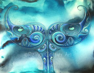 Whale (Tohora) Tail by Reina Cotter