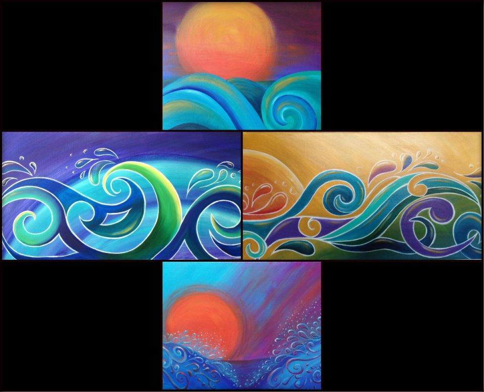 WP collage gallery koru surf