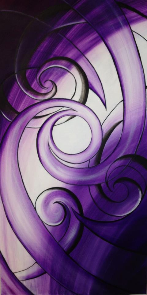 Purple Koru