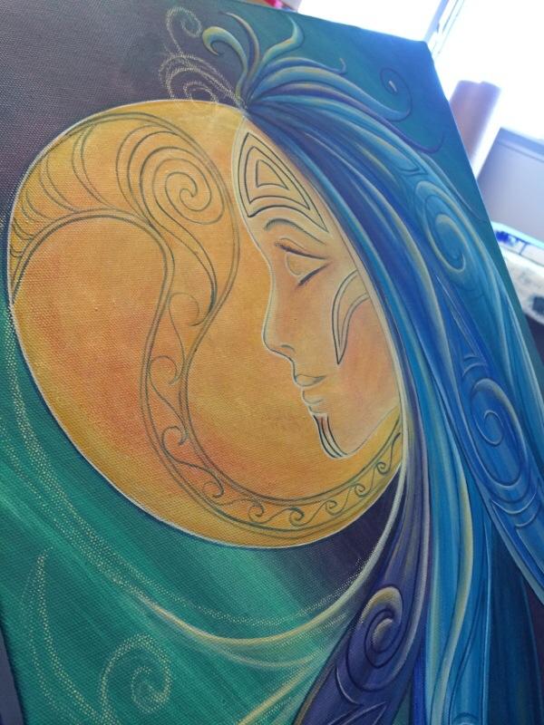 WIP Tribal Moon Goddess