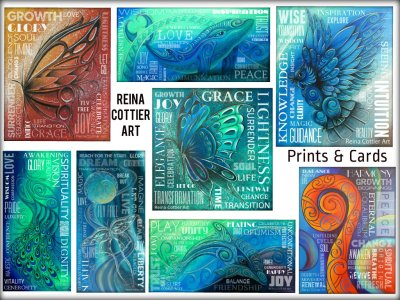 Inspirational Wordart by Reina Cottier. All available on prints and cards.
