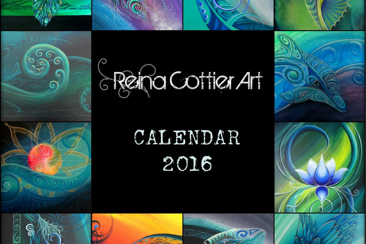 Calendar Art Nz : New zealand reina cottier art