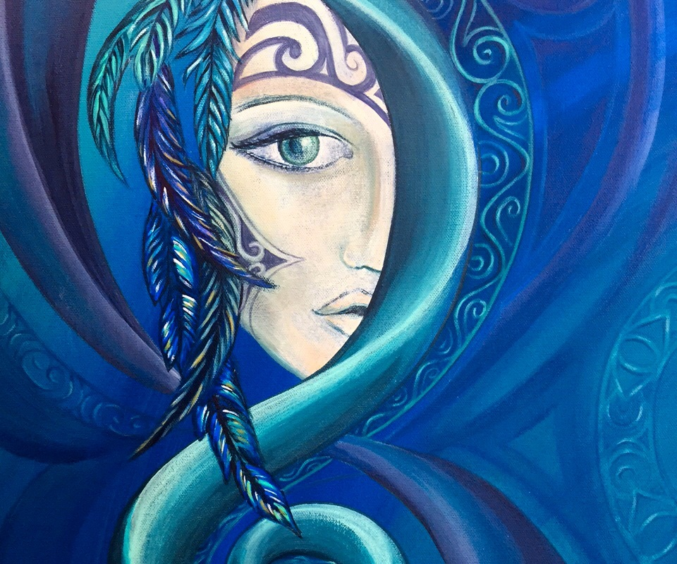 tribal goddess series reina cottier art