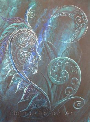Tribal Moon Goddess