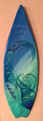 Mini Board Surf Art~ Reina Cottier Art