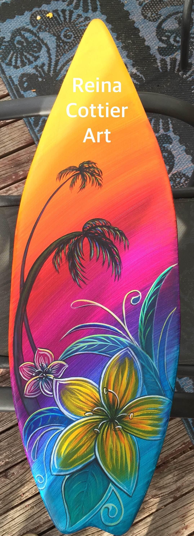 Remarkable surfboard decoration photos best inspiration home kiwi art reina cottier art christmas surfboard decoration amipublicfo Images