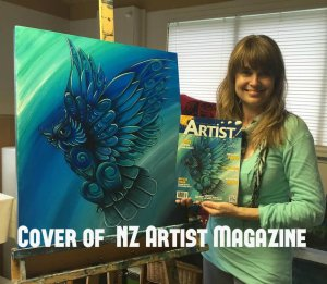 COVER of NZ Artist Mag. Reina Cottier Art