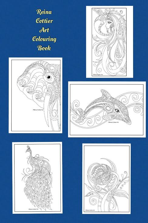 Reina Cottier Art Colouring Book. Series One
