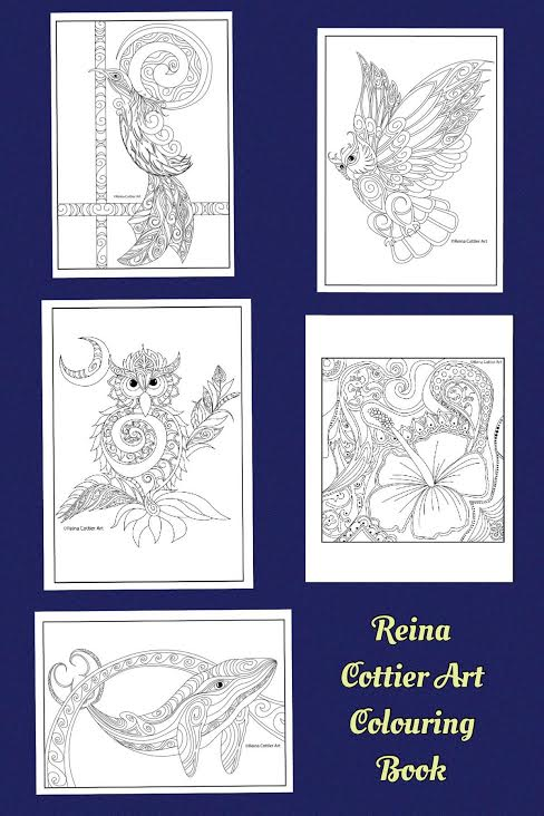 Reina Cottier Art Colouring Book. Series. One
