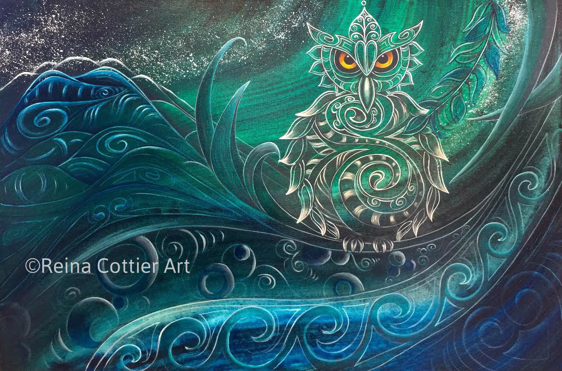 New zealand art painting reina cottier art for Airbrushing mural