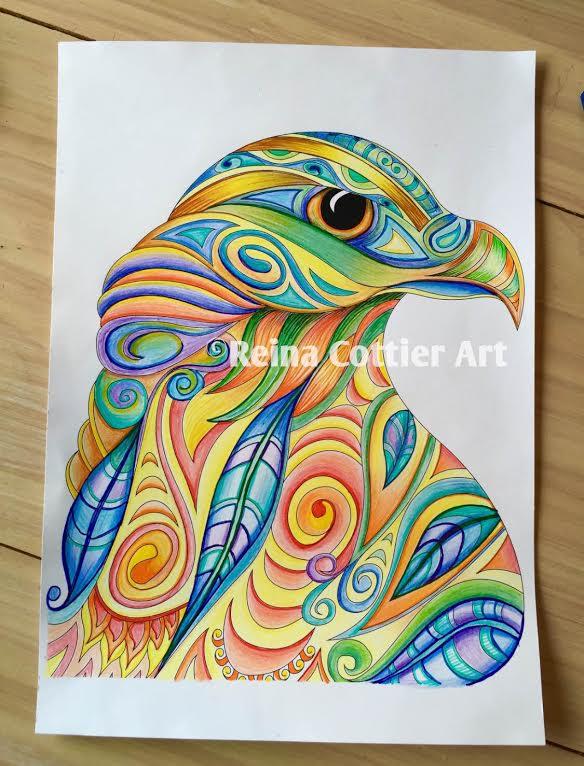Reina Cottier Art NZ Falcon