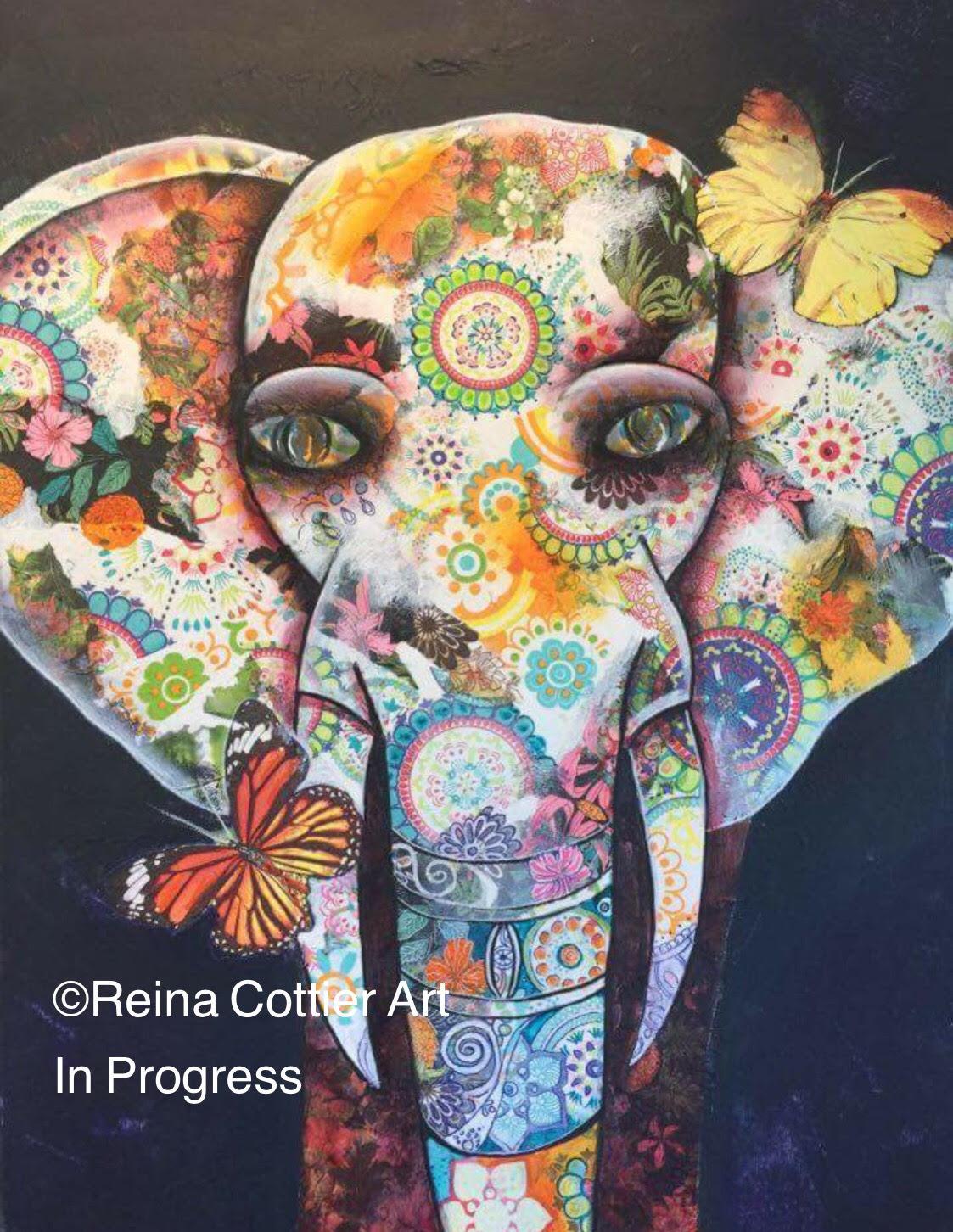 elephant-collage