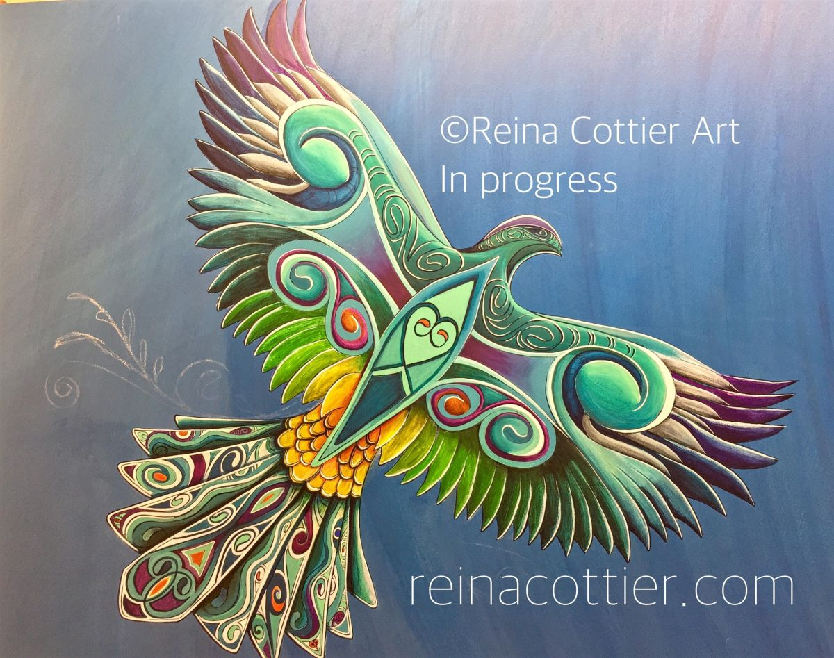 Native New Zealand Bird by Reina Cottier