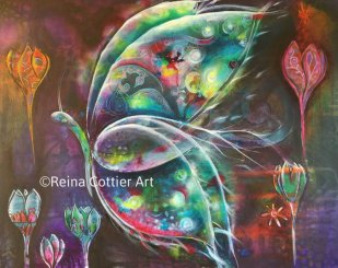 Mixed Media Butterfly by Reina Cottier