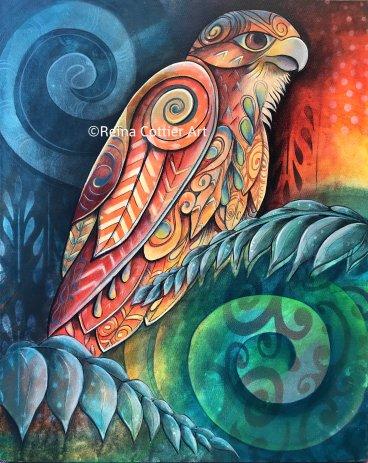 Kahu - NZ Hawk by Reina Cottier New Zealand Artist