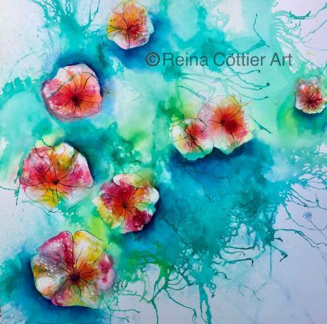 Water Flowers by New Zealand Artist Reina Cottier