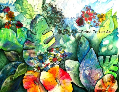 """Nature's Reveal"", Mixed Media- by Reina Cottier, New Zealand artist"