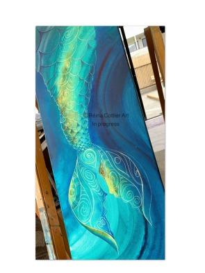Mermaid Tail by Reina Cottier