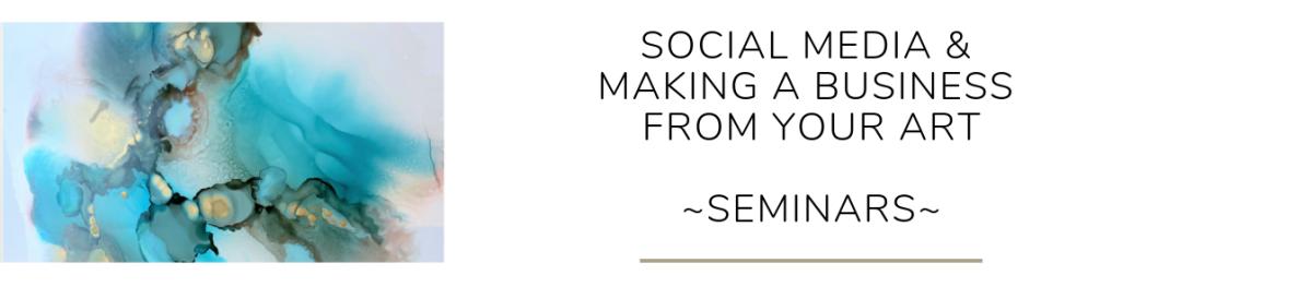 Social Media & Making Art a Business workshops by Reina Cottier