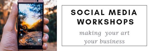 social media workshop for artists with Reina Cottier
