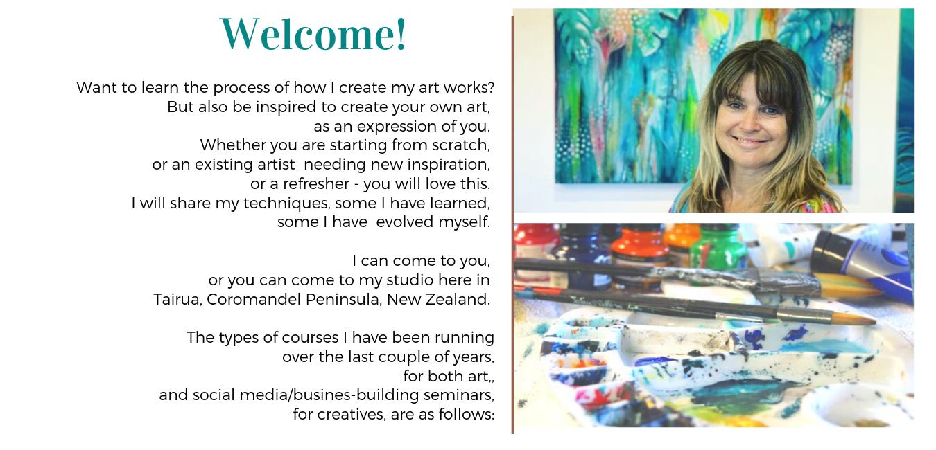 Reina Cottier Art & Social Media Art Business Workshops & Retreats