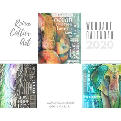 Reina Cottier Art CALENDAR 2020 Wordart